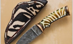 Zebra pattern drop point hunter