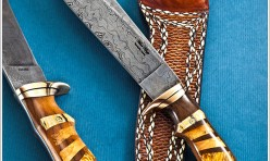 Bowie with mosaic handle