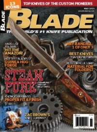 One of Mark's knives is pictured on page 36 of the May 2013 issue of Blade magazine!