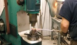 Forging a tang of the knife